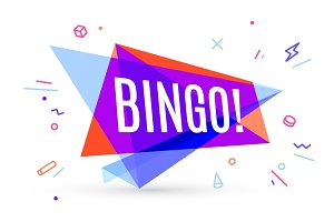 Colorful banner with text Bingo