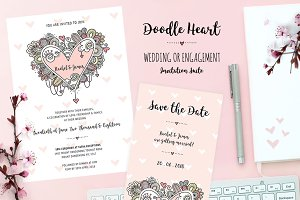 Heart Doodle Wedding Collection
