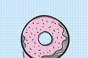 Vector of doughnut icon