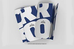 A4 Tri-fold Brochure Scene Top