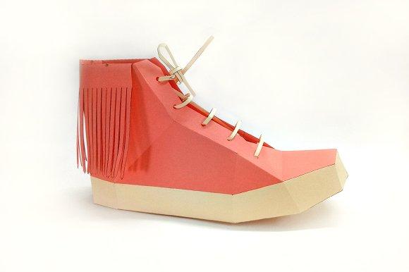 DIY Fringes Shoe 3D Papercraft