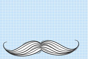 Vector of mustache icon