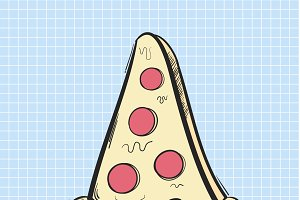Vector of pizza icon