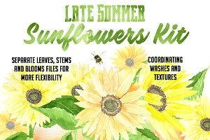 Late Summer Sunflowers Kit
