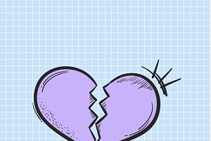Vector of broken heart icon