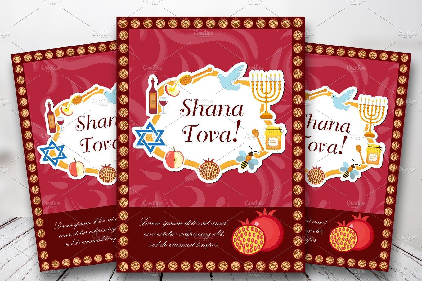 Rosh hashanah poster flyer invitation greeting card shana tova rosh hashanah poster flyer invitation greeting card shana tova is a template kristyandbryce Choice Image