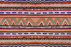 Aztec Folk Tribal seamless pattern