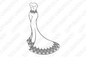 Brides Wedding Dress Concept