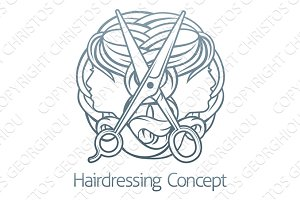 Hairdresser Stylist Hair Salon Concept