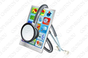 Mobile Phone Repair Health Concept