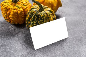 Business cards with pumpkins