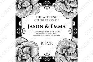 Roses Wedding Invite Invitation Template