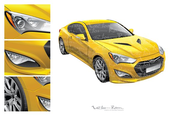 Korean Sports Coupe Illustrations Creative Market