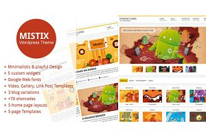 Mistix - A Minimal Wordpress Theme