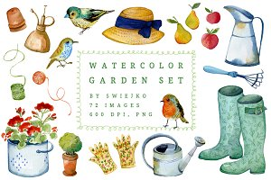 Watercolor Gardener Set