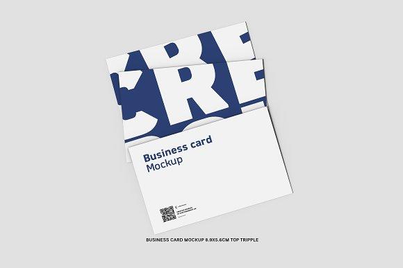 45 Triple Business Card 8.9x5.6cm