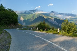 road to Mestia Ushguli village Georgia