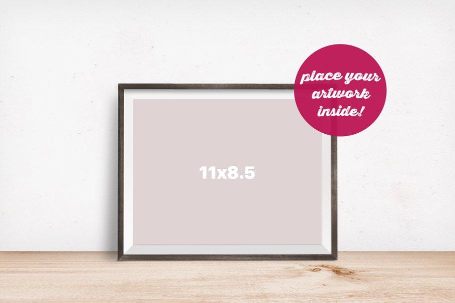 2d8be4f75620 Horizontal Frame Mockup on the Floor ~ Print Mockups ~ Creative Market