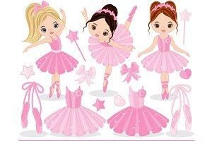 Vector Ballerina Clipart