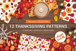12 Thanksgiving Day Patterns + Bonus