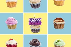 set of cupcakes