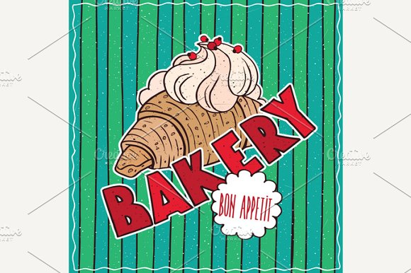 Food Poster With Bakery