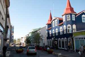 The City of Akureyri in Iceland