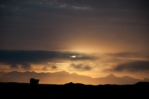 Dramatic Clouds and Midnight Sun