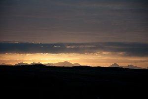 Dark Clouds over Midnight Sunset