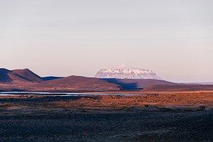 Barren Landscape at Dusk