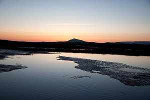 The Midnight Sun over Iceland