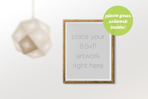 Frame Mockup with Hanging Lamp