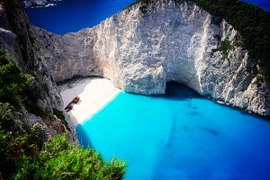 Beautiful lanscape of Zakinthos island