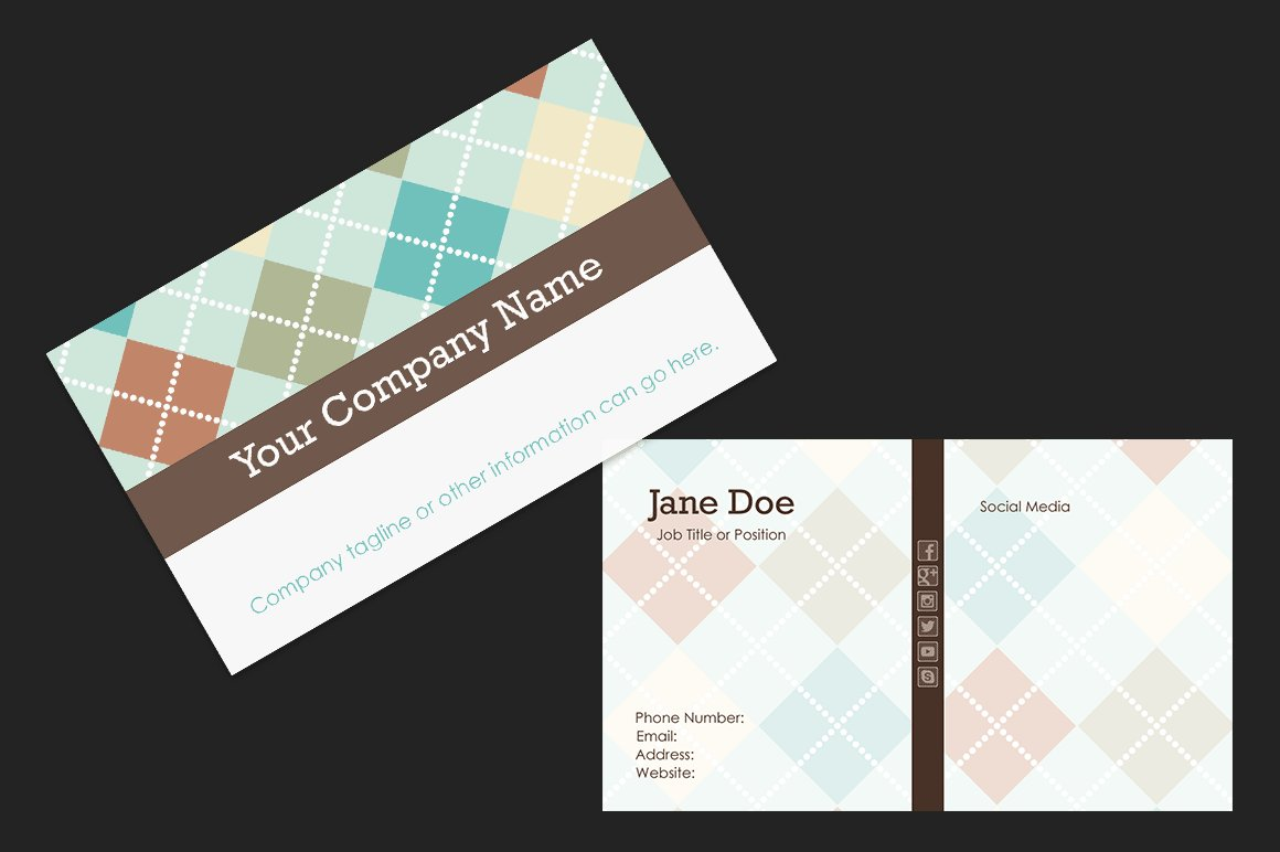 Sweater Print Business Card Template ~ Business Card Templates ...
