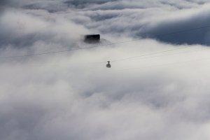 Misty cable car