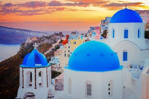Oia, traditional greek village