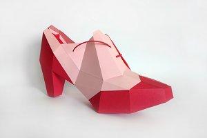 DIY Ankle Shoe - 3d papercraft