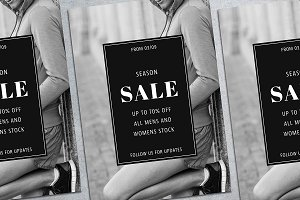 Clothes Sale Flyer Mockup
