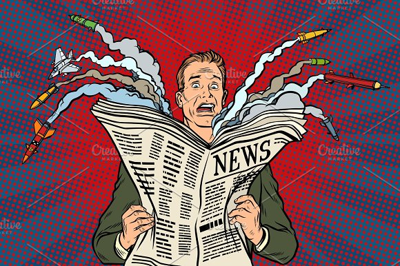 Newspaper Bad News About Nuclear War The Man Shocked