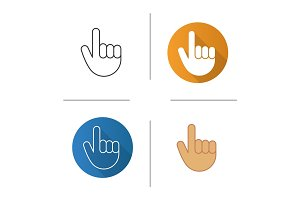 Attention hand gesture icon