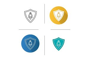 Startup projects protection icon