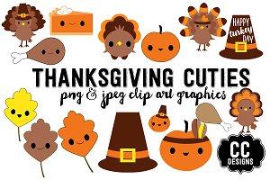 Thanksgiving Kawaii Cuties Graphics