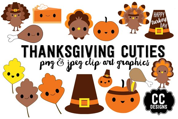 Thanksgiving Kawaii Cuties Graphics
