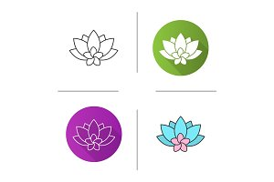 Spa salon flowers icon
