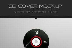 Realistic Digipak CD Mockup