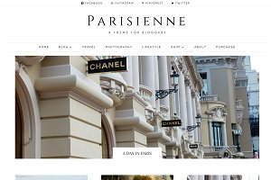 Parisienne - WordPress Theme Blog