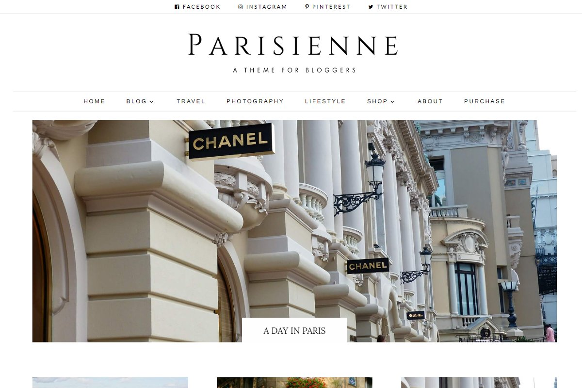 Parisienne - WordPress Theme Blog ~ WordPress Blog Themes ~ Creative