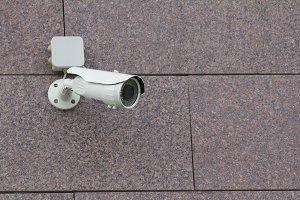 CCTV Camera on the wall - telephoto