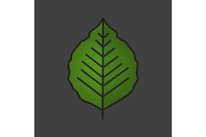 Poplar leaf color icon