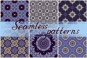 15 seamless patterns and rosettes
